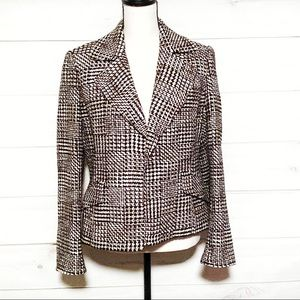 Ellen Tracy for Saks Brown Tweed Blazer